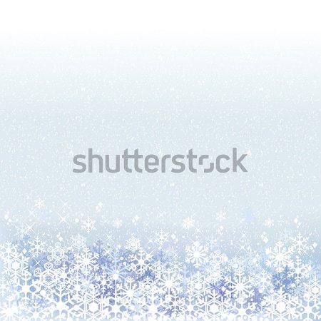 Winter blau Schnee Landschaft Transparenz Gradienten Stock foto © norwayblue