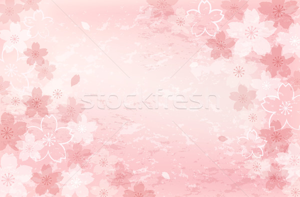 Shabby chic Cherry blossom background Stock photo © norwayblue