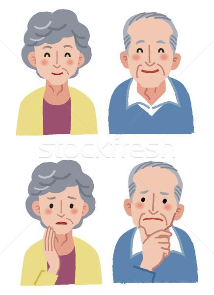 пожилого пару счастливым тревога женщины Сток-фото © norwayblue