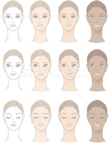 Chart of Beautiful Woman complexion Stock photo © norwayblue