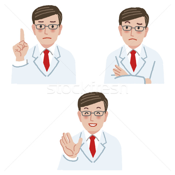 Arzt unterschiedlich Arm lächelnd Hand Mann Stock foto © norwayblue