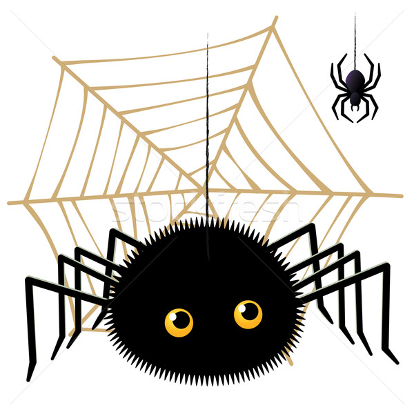 Cartoon spider looking up a tarantula Stock photo © norwayblue