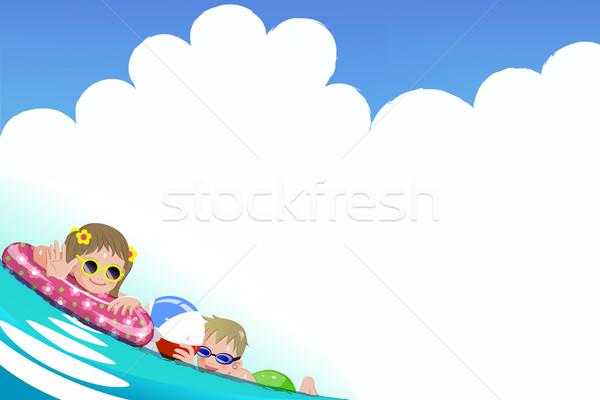 детей ванны время градиенты градиент Сток-фото © norwayblue