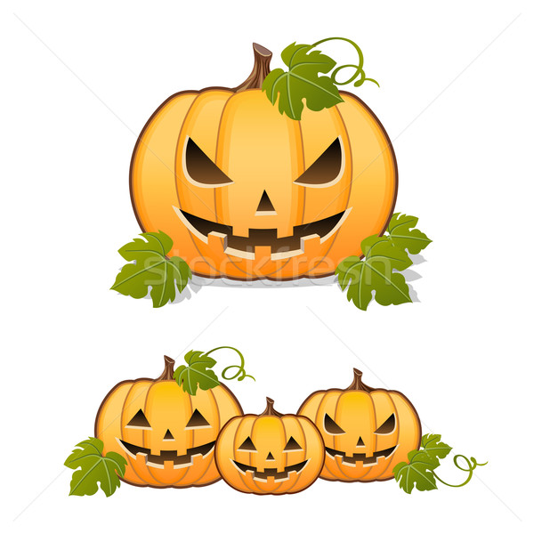Halloween pumpkin, set of Jack-o'-Lantern Stock photo © norwayblue
