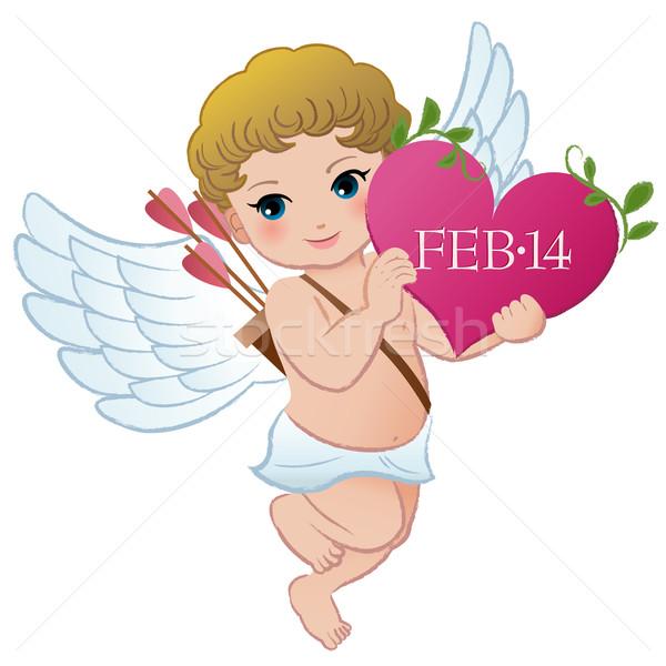 San valentino cuore eps10 vettore baby Foto d'archivio © norwayblue
