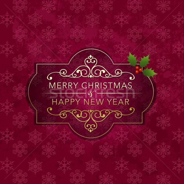 Рождества Знак снежинка файла прозрачность градиенты Сток-фото © norwayblue