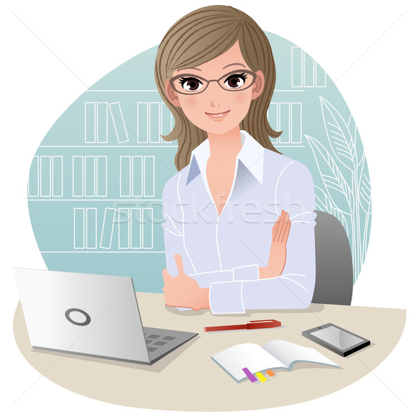 Pretty business woman at office Stock photo © norwayblue