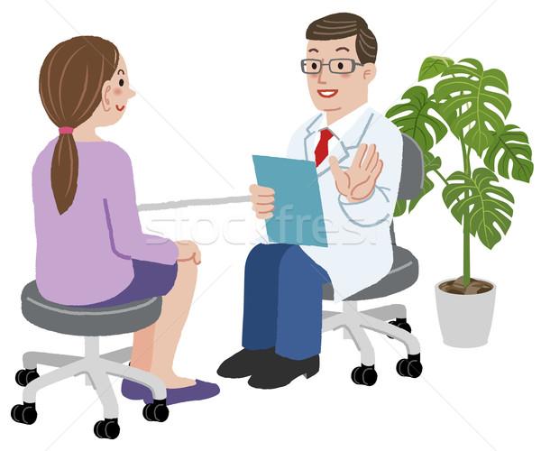 врач женщины пациент служба экзамен молодые Сток-фото © norwayblue