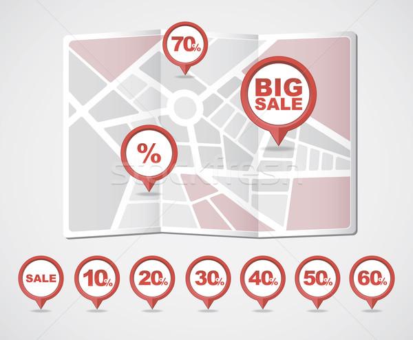 Ikonok vásár vektor eps vásárlás piros Stock fotó © nosik