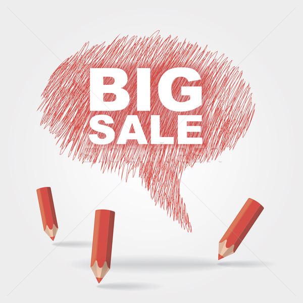 text bubble BIG SALE Stock photo © nosik