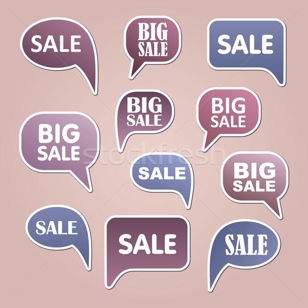 Szöveg buborék vásár vektor eps háttér Stock fotó © nosik