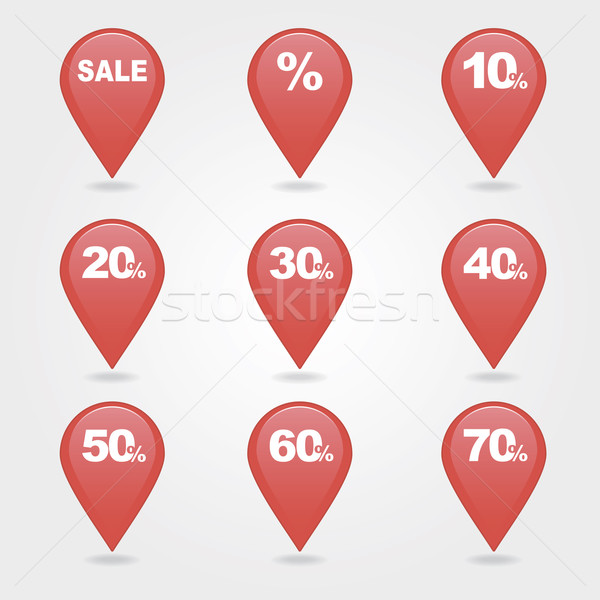 mapping pins icons SALE Stock photo © nosik