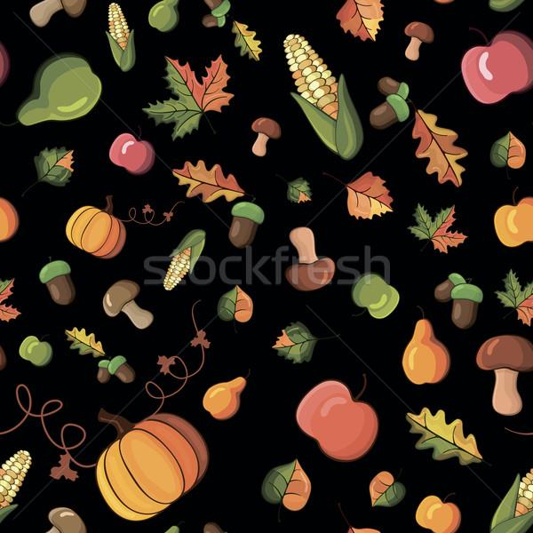 Vektor minta aratás kép zöldségek gyümölcsök Stock fotó © nosik