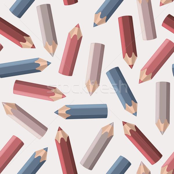 Színes ceruzák vektor végtelen minta festék ceruza Stock fotó © nosik