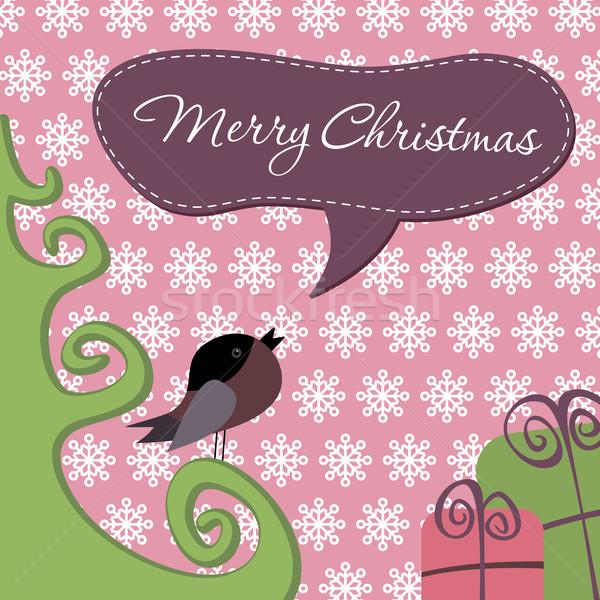 Postcard Merry Christmas Stock photo © nosik
