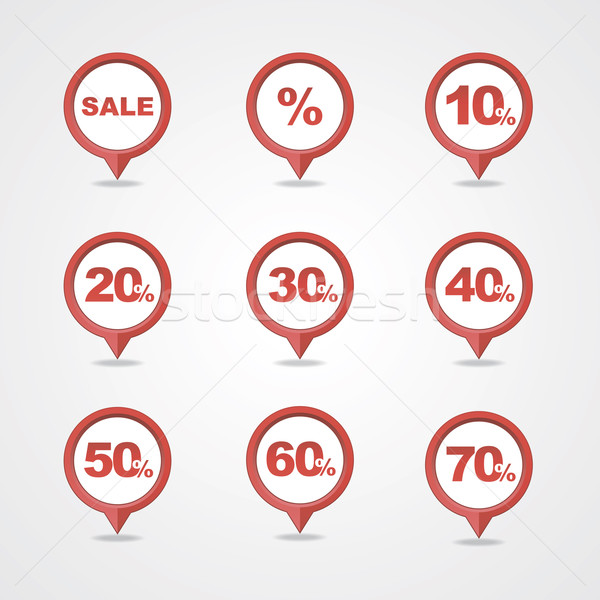 Stock photo: mapping pins icons SALE