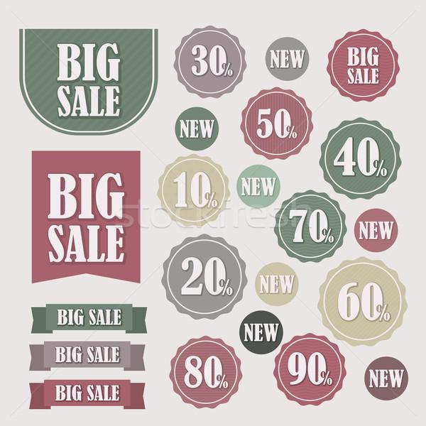 Szett vásár címkék bannerek vektor eps Stock fotó © nosik