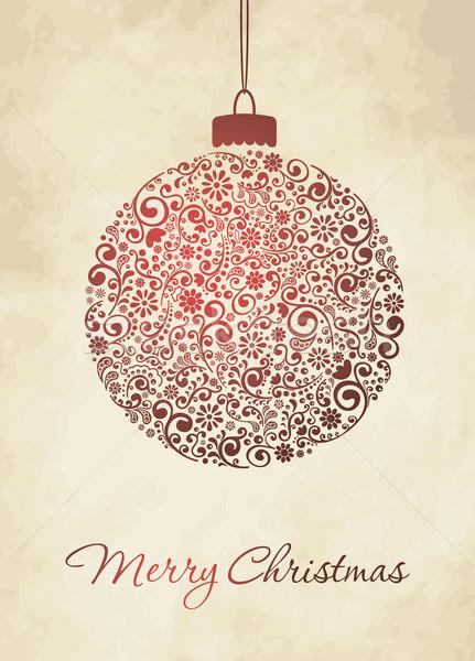 Vidám karácsonyi üdvözlet karácsony üdvözlőlap textúra boldog Stock fotó © nosik