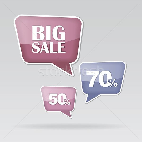 текста пузыря продажи вектора прибыль на акцию фон Сток-фото © nosik