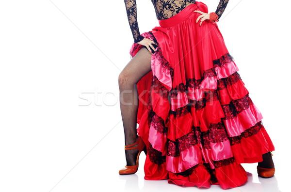 Flamenco mulher corpo espanhol traje em pé Foto stock © Novic