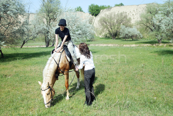 Horse riding Stock photo © Novic
