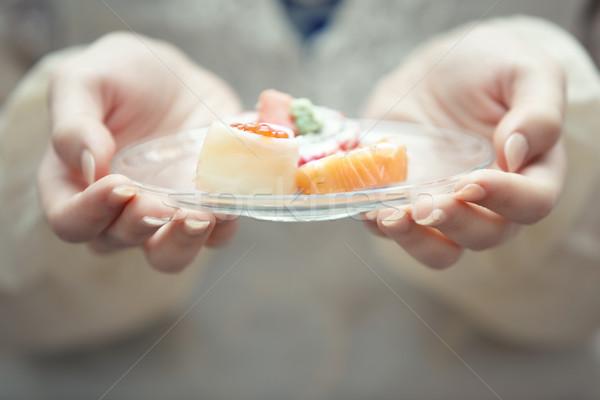 суши человека рук пластина стороны Сток-фото © Novic