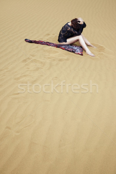 Stock photo: Lost in the desert