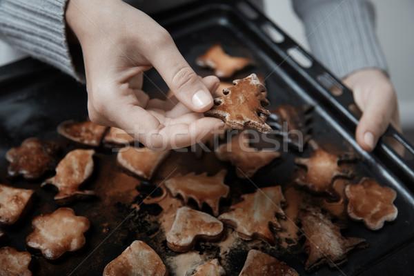 Burnt cookies Stock photo © Novic