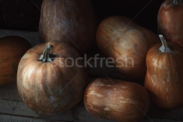 Grupy drewniany stół widoku żywności Zdjęcia stock © Novic