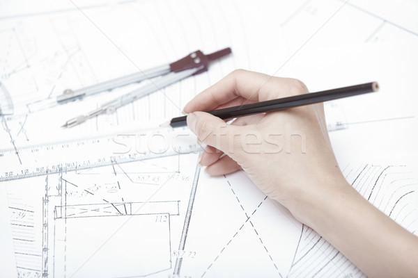 エンジニアリング 手 エンジニア 作業 建設 計画 ストックフォト © Novic