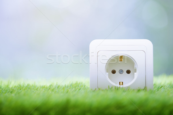 Electric outlet in the grass Stock photo © Novic
