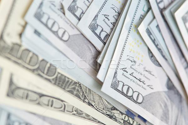 One hundred US dollars banknotes Stock photo © Novic