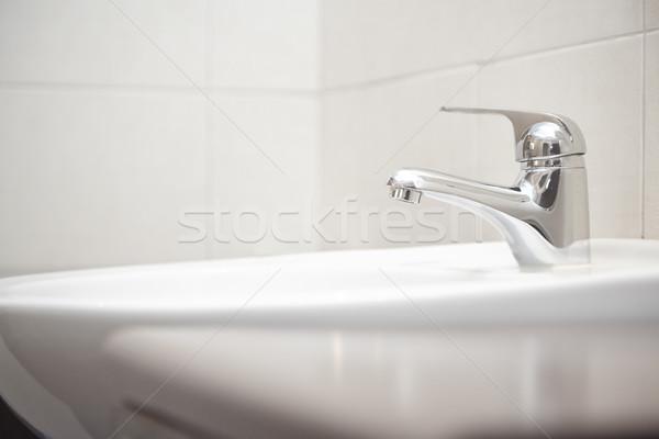給水栓 シンク クローズアップ 水平な 写真 金属 ストックフォト © Novic
