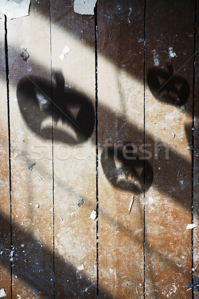 árnyék halloween tök fából készült fal textúra padló Stock fotó © Novic
