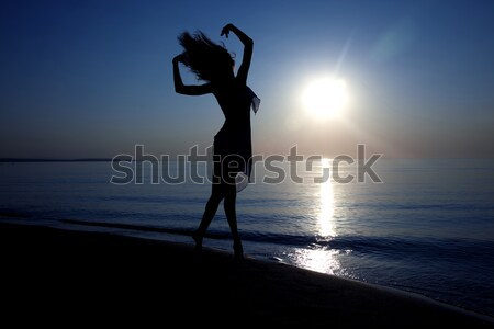 Happy at paradise beach Stock photo © Novic