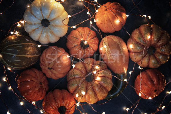 Halloween pumpkins with illumination Stock photo © Novic