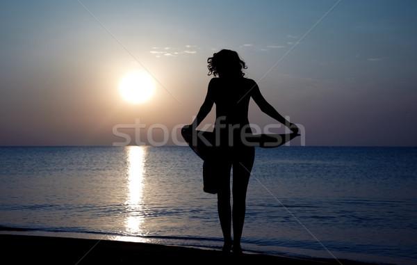 Sunset beach Stock photo © Novic