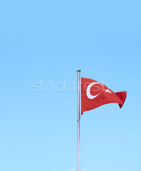 Сток-фото: турецкий · флаг · небе · синий · белый