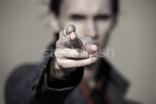Pointing finger Stock photo © Novic