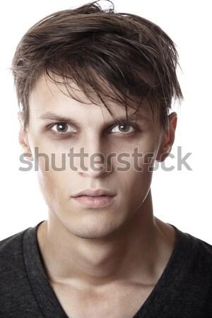 исчерпанный человека белый портрет молодые молодежи Сток-фото © Novic