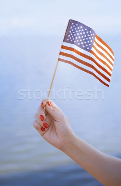 US flag waving Stock photo © Novic