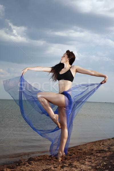 Elegant lady dancing Stock photo © Novic