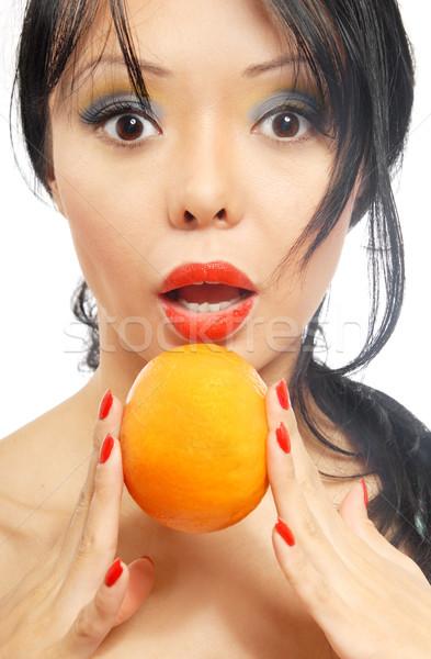 I love mandarins Stock photo © Novic