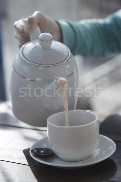 Stok fotoğraf: çay · içme · kadın · tablo · içmek