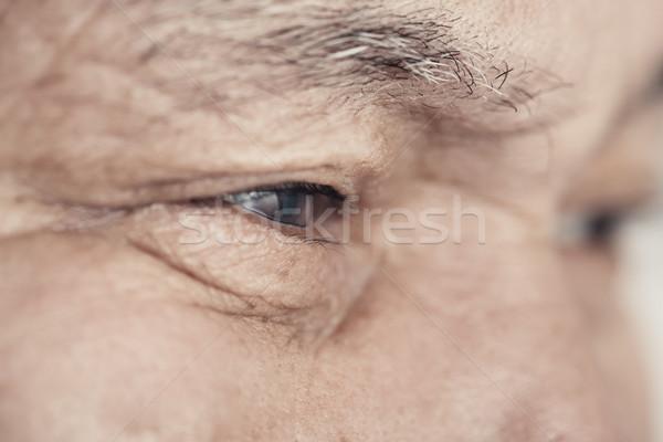 Idős férfi közelkép kilátás szem idős Stock fotó © Novic