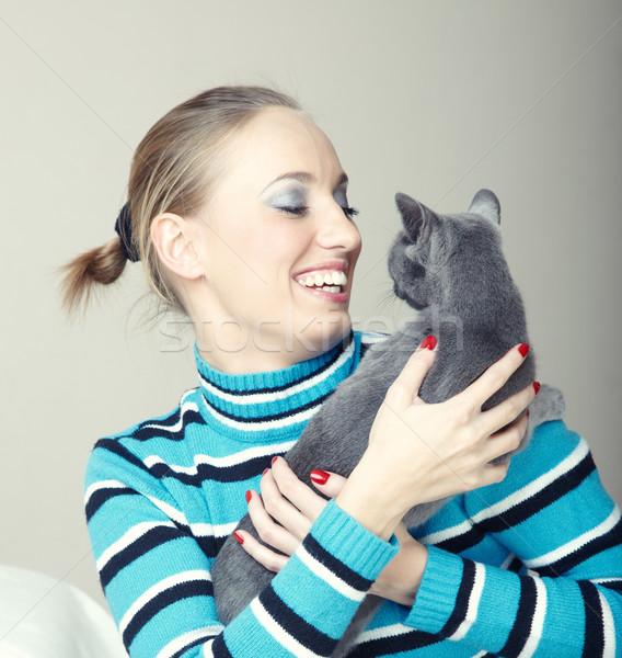 Play with cat Stock photo © Novic