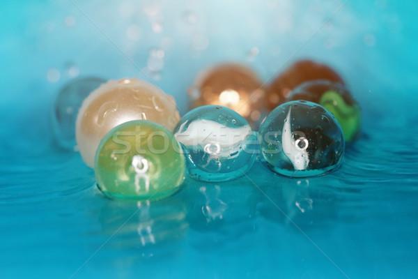 Agua primer plano macro foto vidrioso Foto stock © Novic