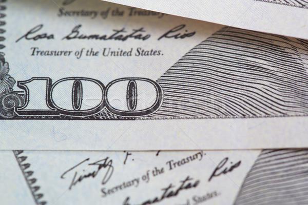Een honderd dollar bankbiljetten Stockfoto © Novic