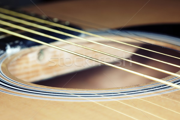 Сток-фото: гитаре · старые · горизонтальный · фото