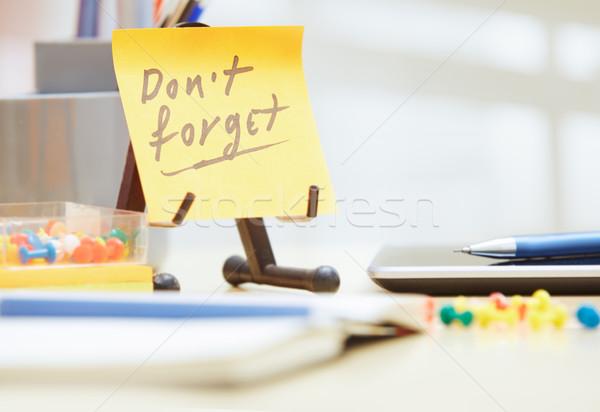 Pas texte adhésif note bureau affaires Photo stock © Novic